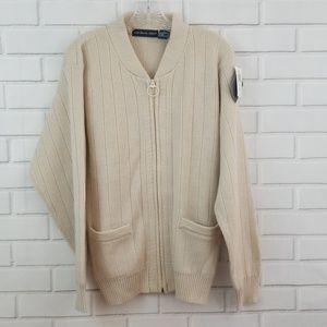 Northern Isles Acrylic Full Zip Cardigan Sweater